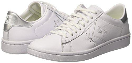 A white Sneaker Bianco Ox Lp Pl Collo Basso Converse silver Donna white 1qSITf4Wwn