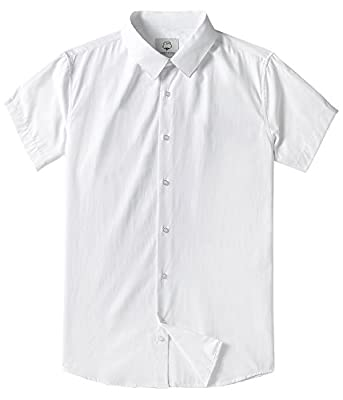 Men's Short Sleeve Formal Dress Shirts