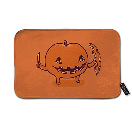 Halloween Slice of Life Doormat Floor Mat with Non-Slip Backing Bath Mat Rug Funny Home Decor 23.6