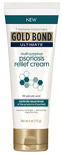 Gold Bond Ultimate Psoriasis Relief Cream, 4 Ounce, Contains Salicylic Acid to Help Control Reoccurrences of Psoriasis Symptoms, Helps Irritated, Itching, Scaling Skin Feel Soothed and Comfortable (Best Over The Counter Steroid Cream)