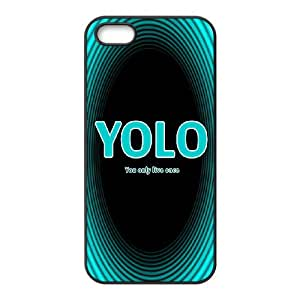 iPhone 5 5s Cell Phone Case Black YOLO D2277743