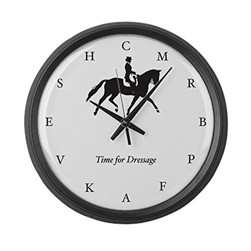 "CafePress Time for Dressage Clock (Large, Black) Large 17"" Round Wall Clock, Unique Decorative Clock"
