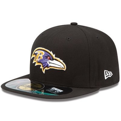 NFL Baltimore Ravens On Field 5950 Game Cap, 7 1/4 Baltimore Ravens Field Football