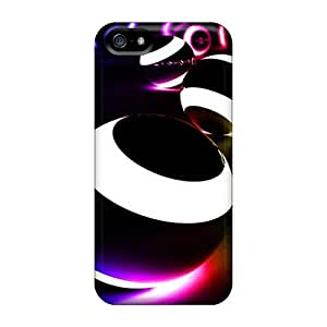 Fashion Tpu Case For Iphone 5/5s- Neon Balls Defender Case Cover