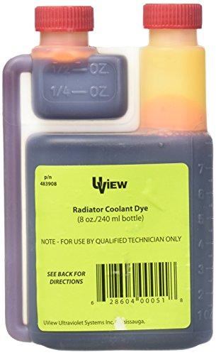 UView UVU483908 Radiator Coolant Dye (8 oz. Bottle) ()