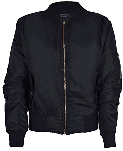 womens-bomber-ziper-jacket-l-black