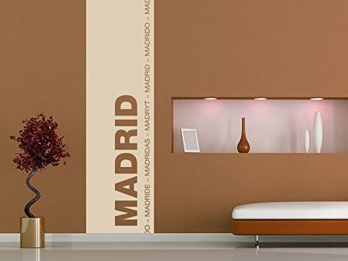 Vinilos decorativos Banner de la de Madrid, dorado, 35x120cm ...