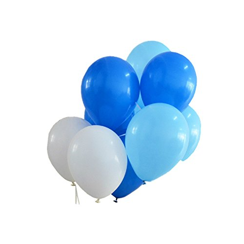 150 ct Assorted Pearlized Blue Light Blue White Balloon 10
