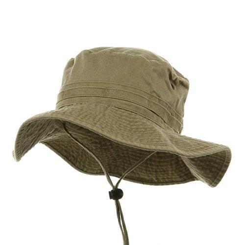 Fishing Hats (02)-Khaki L (Dyed Cap Twill Pigment Solid)