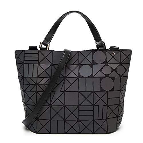 262099753e Amazon.com  Women Shoulder Bag Geometry Sequins Mirror Laser Plain Folding  Bags Luminous Handbags Casual Tote Female  Kitchen   Dining