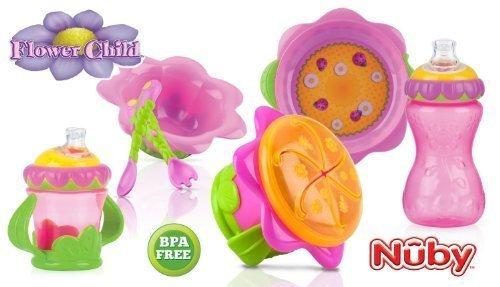 Nuby Flower Child Collection Feeding Set