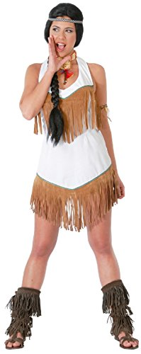 Ladies Native American Indian Squaw Wild West Cowboys Carnival Halloween Fancy Dress Costume Outfit 8-18 (UK 8-10)
