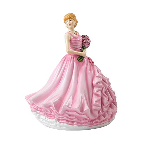 Doulton Birthday Figurine Royal (Royal Doulton Language of Flowers I Love You (Red Rose) 9