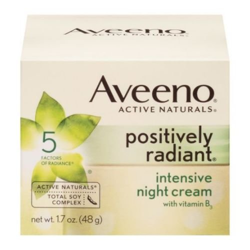 - Aveeno Active Naturals Positively Radiant Intensive Night Cream Facial Moisturizer, 1.7 Ounce - 12 per case.
