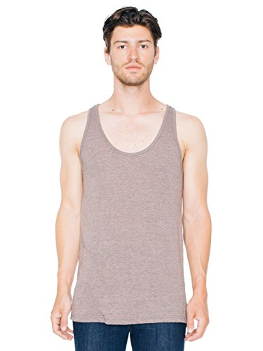American Apparel Men Tri-Blend Tank Size XL Tri-Coffee