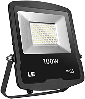Le Foco LED 100 W 8000 lm impermeable IP65, proyector exterior LED ...