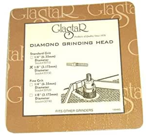 "Glastar 1/8"" Diamond Grinding Bit Head"