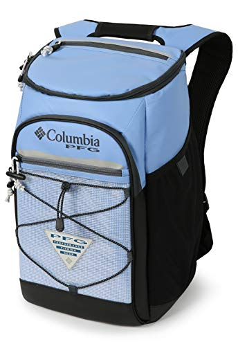 Roll Columbia - Columbia PFG Roll Caster 30 Can Insulated Backpack Cooler, White Cap