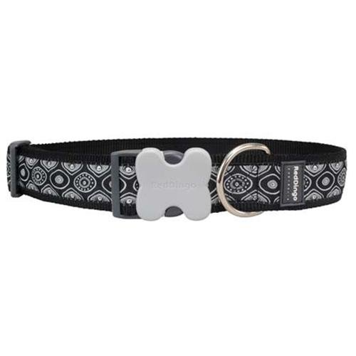 Red Dingo Snake Eyes Dog Collar, Black, Giant Long