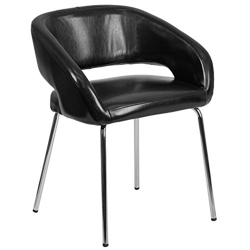 Flash Furniture Fusion Series Contemporary Leather Side Reception Chair 41yRFniO6rL