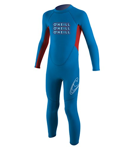 O'Neill Wetsuits 2 mm Reactor Toddler Full Wetsuit, Brite Blue/Red, Size 4