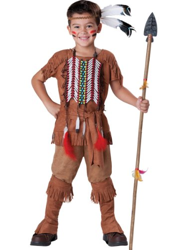 [InCharacter Costumes Boy's Indian Brave Costume, Tan, 12] (Male Indian Costumes)