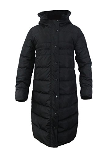 CHERRY CHICK Women's Slim Fit Long Down Jacket Winter Hooded Coat (Medium, ()