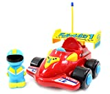 Cartoon R/C Race Car Radio Control Toy for Toddlers (Blue)