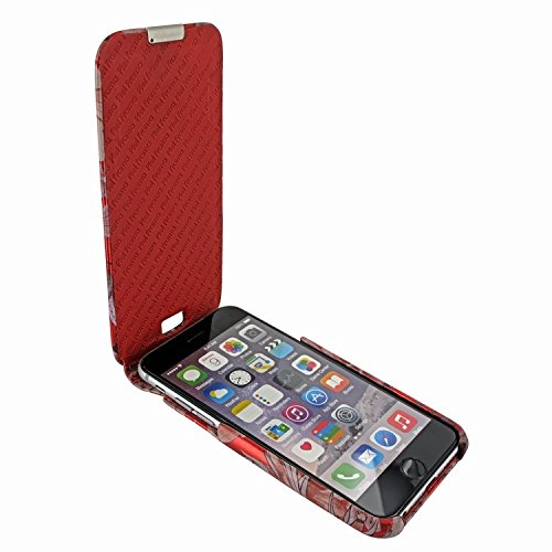 Piel Frama 685 Red Flower iMagnum ESSENCE iMagnum Leather Case for Apple iPhone 6 Plus / 6S Plus / 7 Plus / 8 Plus by Piel Frama