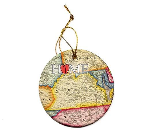 hristmas Tree Porcelain Ornament ()