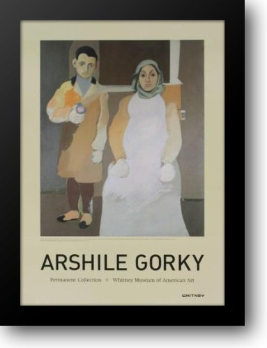 Artist And His Mother 24x32 Framed Art Print by Gorky, Arshile (Arshile Gorky The Artist And His Mother)