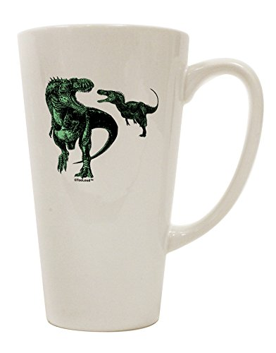 TooLoud Jurassic Dinosaur Design 1 16 Ounce Conical Latte Coffee Mug