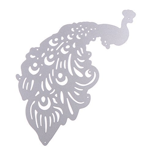 Whitelotous Cutting Dies Cut Dies Stencil Metal Template Mould for DIY Scrapbook Album Paper Card (Peacock)
