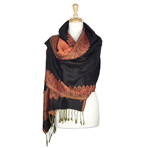 paskmlna-border-pattern-double-layered-reversible-woven-pashmina-shawl-scarf-wrap-stole-01
