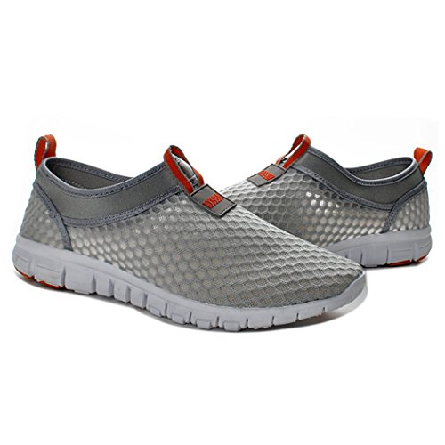 FENGDA Fenda Frauen & Herren Leichtes Atmungsaktives Mesh-Laufschuhe Walking Slip On Schuhe Strand Aqua Quick Dry Casual Orange