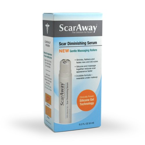 ScarAway Silicone Gel Scar Treatment, Scar Diminishing Serum with Massaging Applicator, 0.2-Ounce