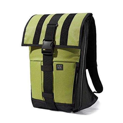 Mission Workshop Rambler 22L-44L (1,350 - 2,700 cu.in) Expandable Cargo Pack Backpack , (Green Rambler Backpack)