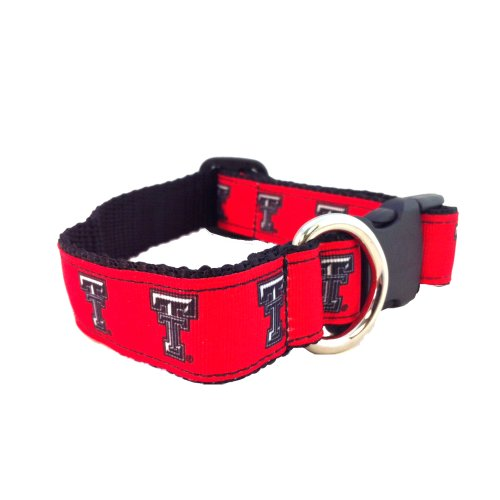 NCAA Texas Tech Red Raiders Dog Collar, Red, X-Small