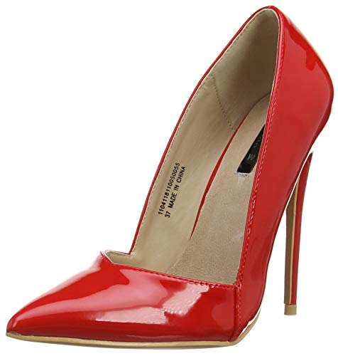 Lost Donna Low Cut Tacco red Alexa Ink Punta Chiusa Scarpe Fit wide 0055 Red Col Court rRq1rw7