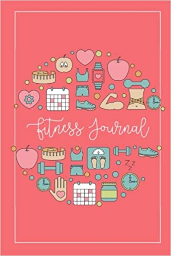 fitness journal workout log diary planner organizer of healthy