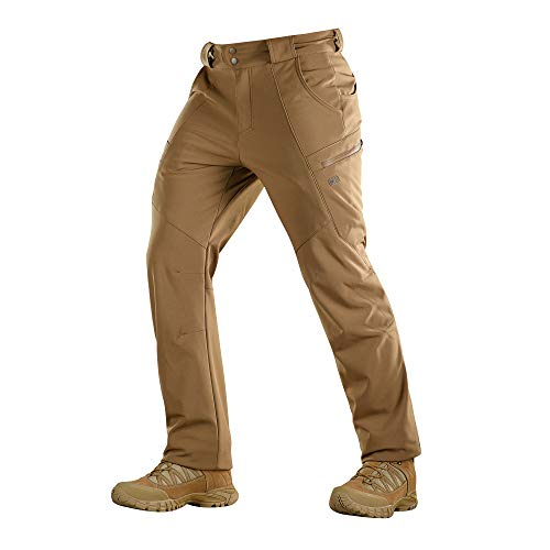 6f00586c M-Tac Winter Tactical Pants Soft Shell Insulated Fleece Lined Cargo  (Coyote, M)