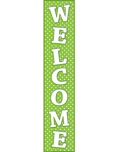 Teacher Created Resources Polka Dots Welcome Banner, Lime (4854)