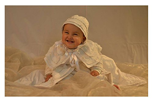 Heirloom Baby Boy's Christening Baptism Gown, Hand Made White Burbvus Ropones by Burbvus (Image #6)