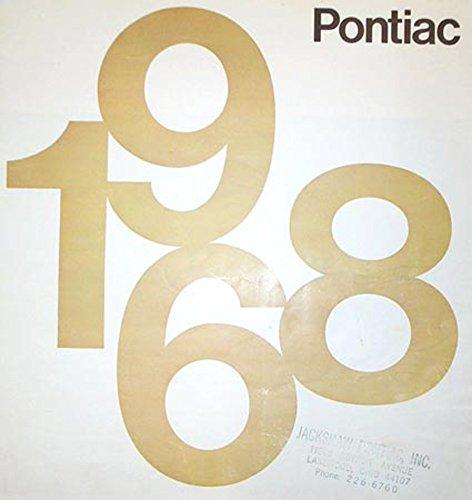 1968 Pontiac Sales Brochure Literature Book Piece Advertisement Specs Options