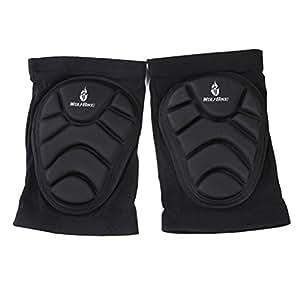 Tinksky unisex talla aficionado de fútbol deportes extremos protección de rodilla Pads, color negro