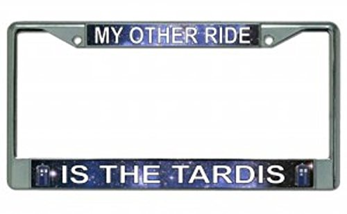 My Other Ride Is The Tardis Chrome License Plate - License Is Car Plate My Other