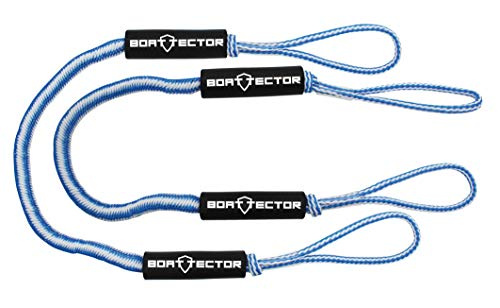 (Extreme Max 3006.2735 BoatTector Bungee Dock Line Value 2-Pack-4', Blue/White)