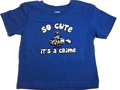 Little Teez Graphic So Cute it's a Crime Funny Toddler Short Sleeve T-Shirt (Halloween En Estados Unidos)