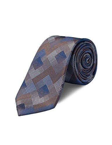 Origin Ties Mens Graphic Skinny Tie 100% Silk 2.5 inches Tie Grey