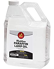 1 Gallon Paraffin Lamp Oil - Clear Smokeless, Odorless, Clean Burning Fuel for Indoor and Outdoor Use - Shabbos Lamp Oil, by Ner Miztavh- Pack of 2
